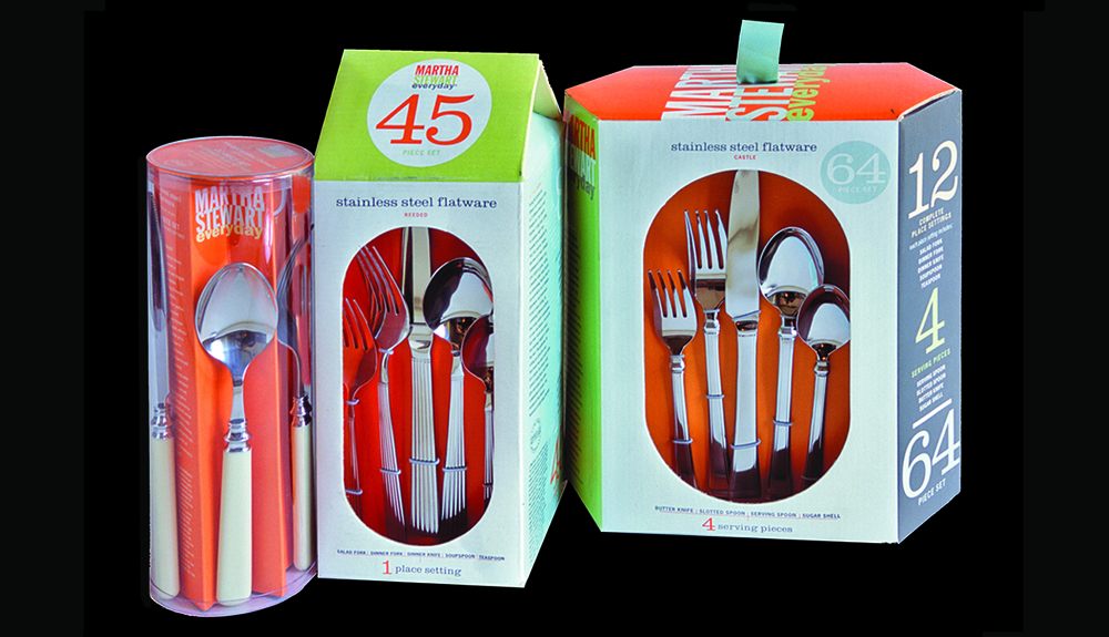 Martha Stewart Everyday for Kmart, Flatware Packaging