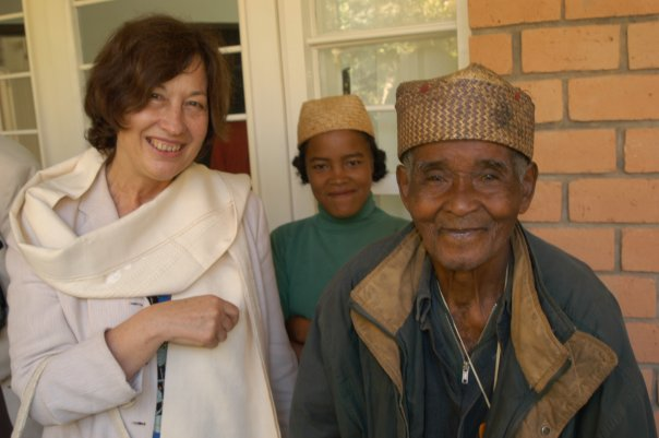 Dr. Patricia Wright with Malagasy Elder at Centre Valbio in Ranomafana, Madagascar