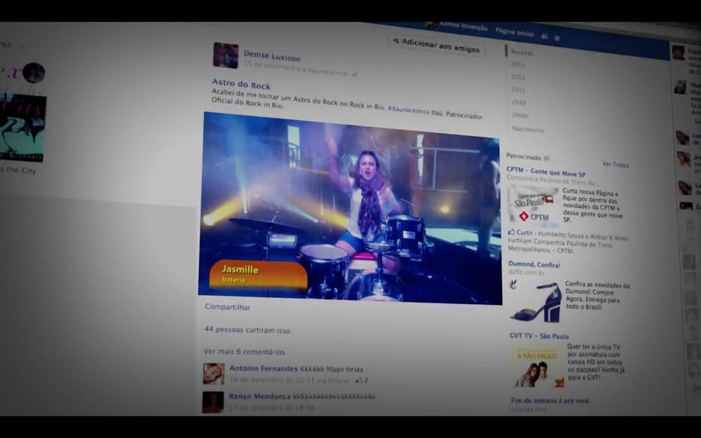 200.000 interações entre os fãs nas redes sociais, impactando 10 milhões de pessoas.