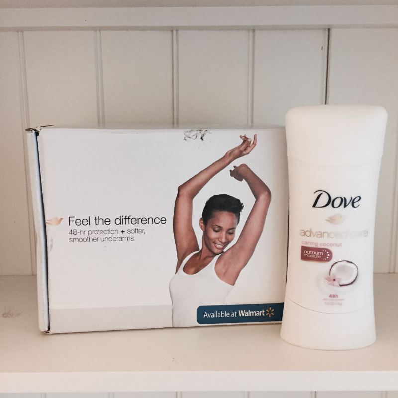 my free full-size sample of Dove sent via Influenster