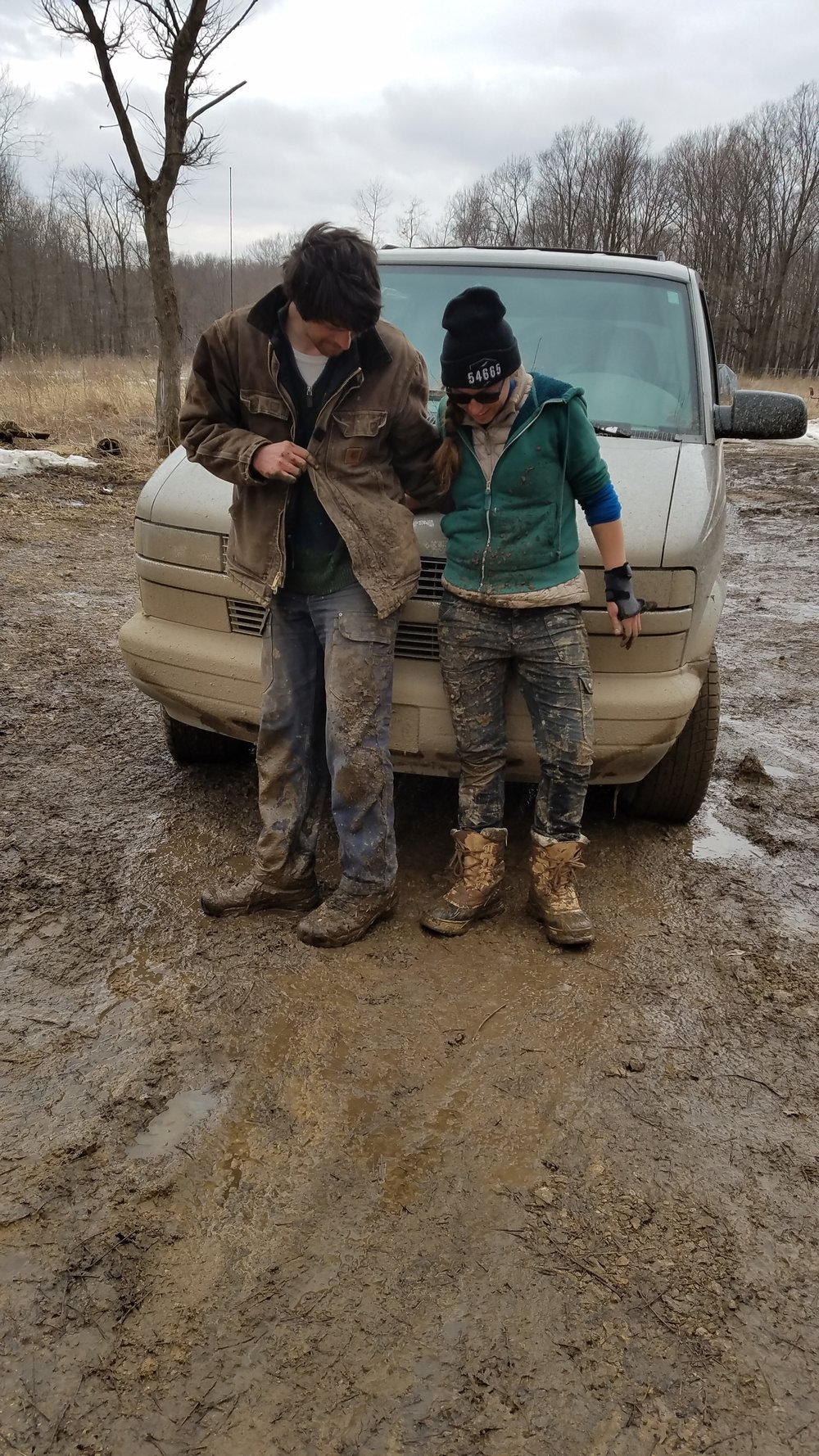 It's not usually this muddy, but it is good to be ready!