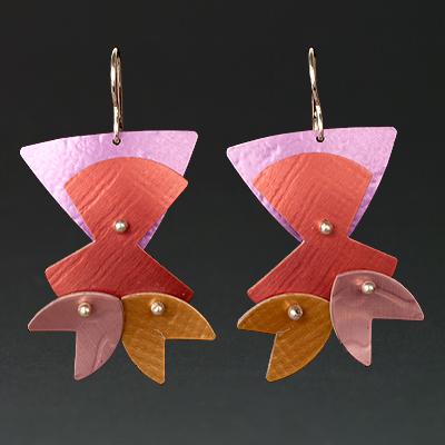 E - Fuchsia, Rust, Gold, Pink