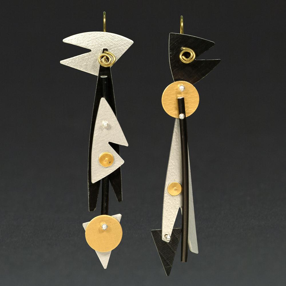B - Silver, Black, Gold