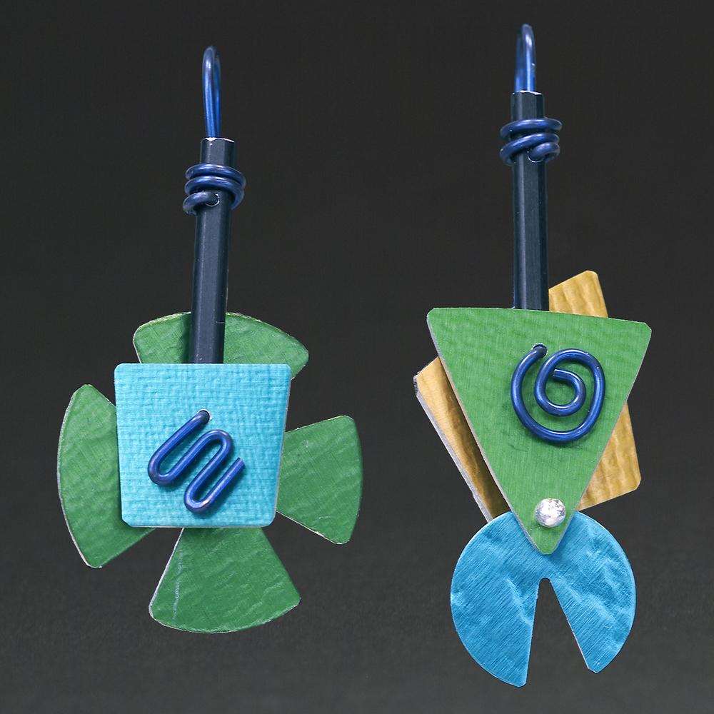 E - Green, Aqua, Gold
