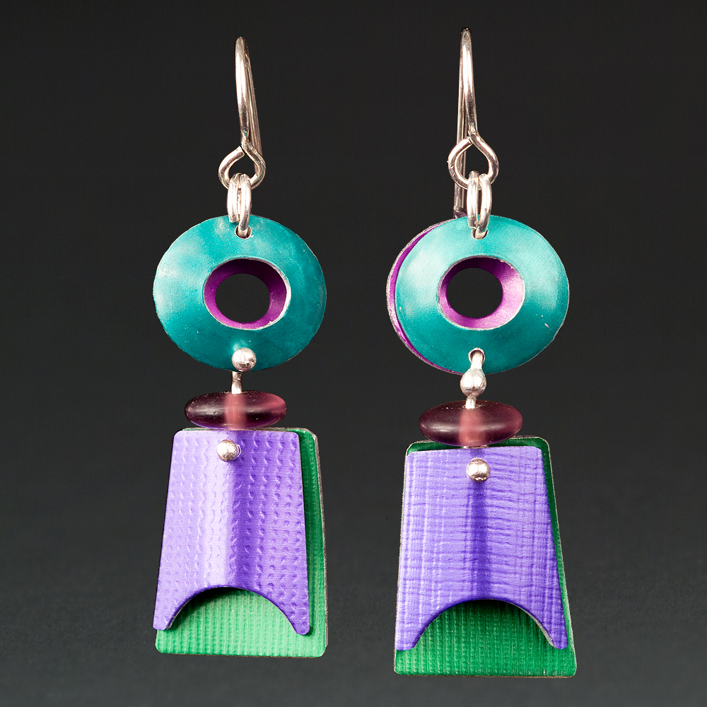 A - Turquoise, Green, Purple