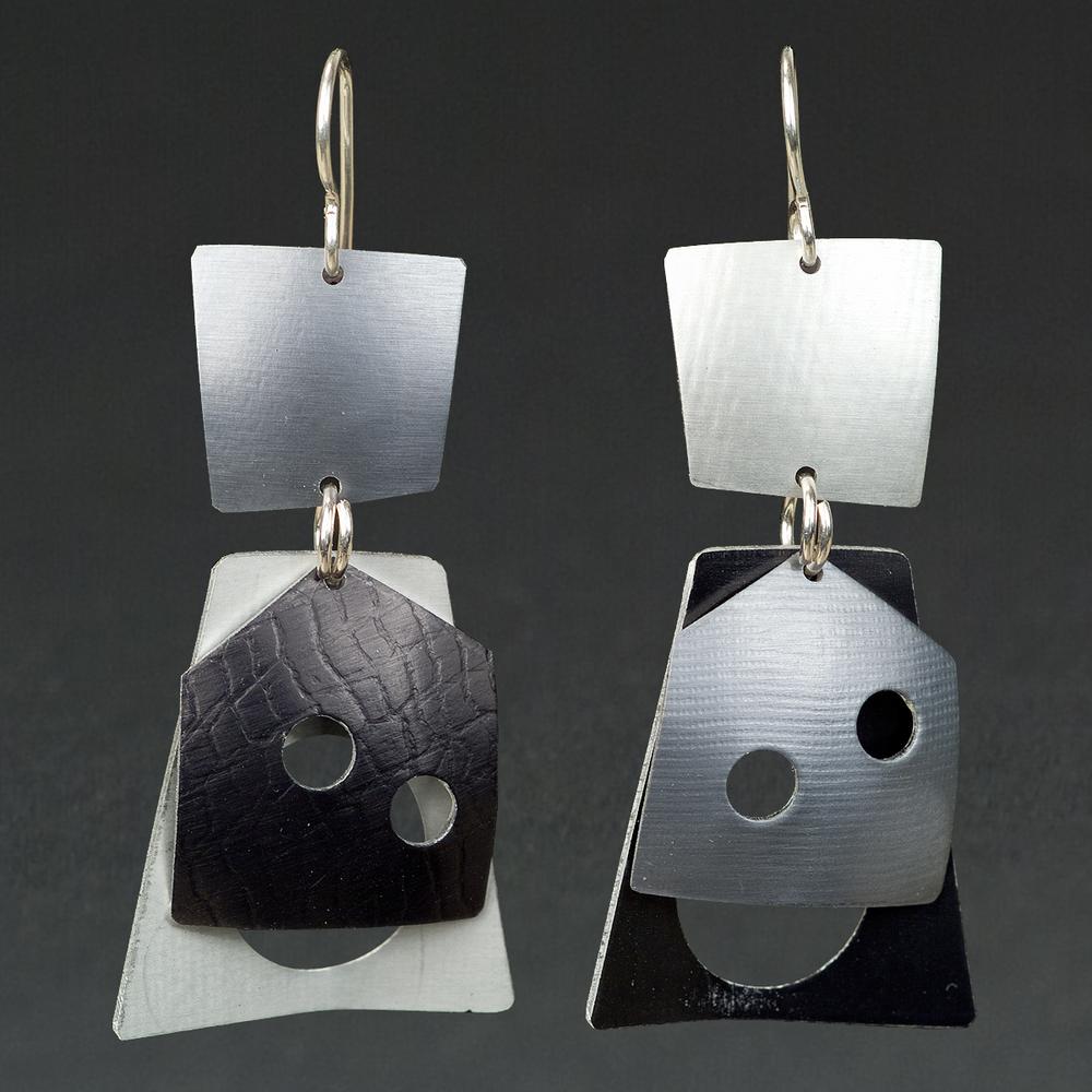 A - Grey, Silver, Black