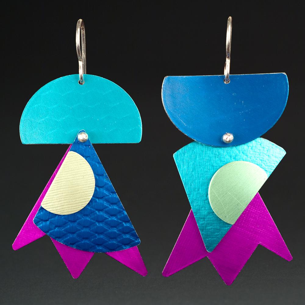 A - Turquoise, Violet, Royal, Chablis