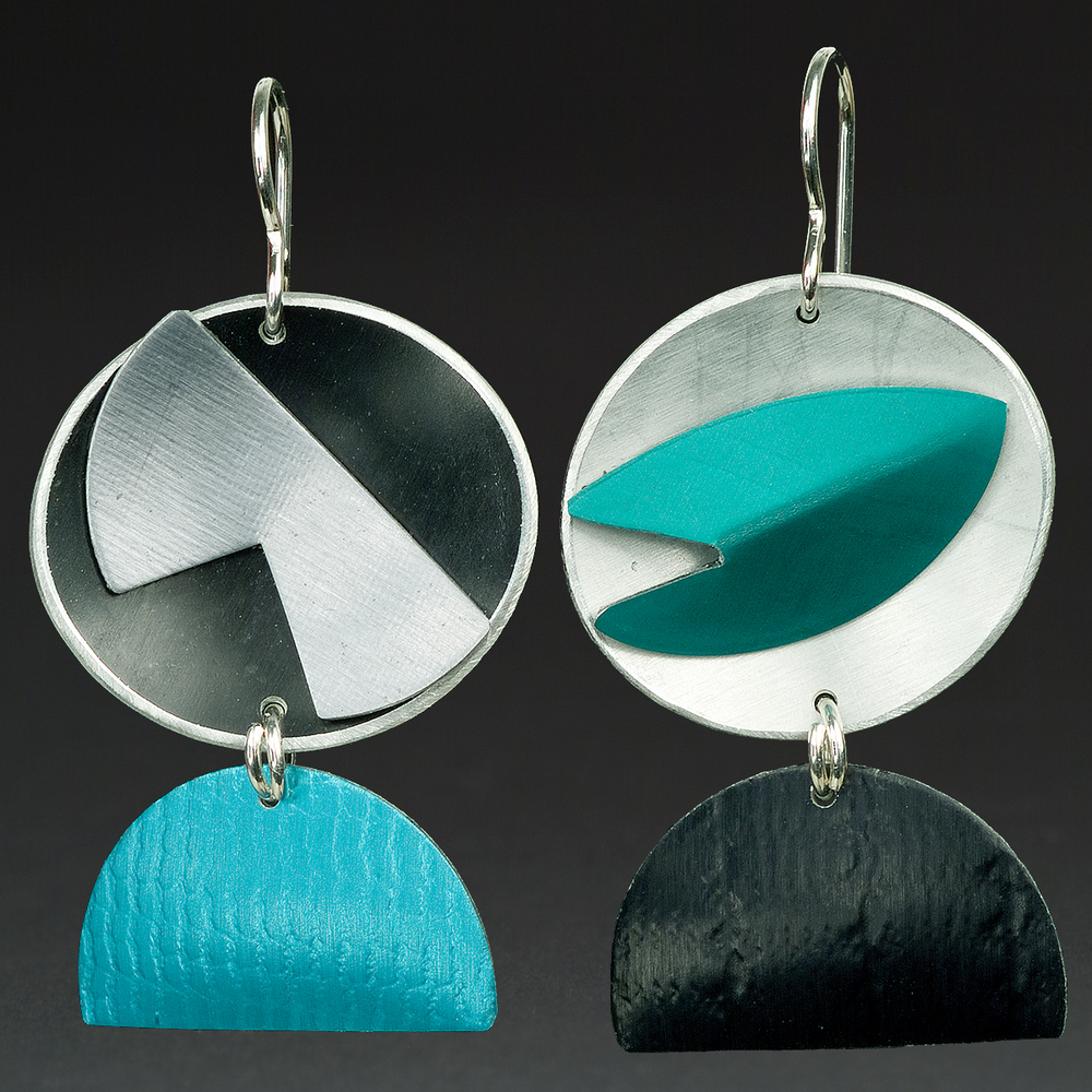 A - Black, Silver, Turquoise