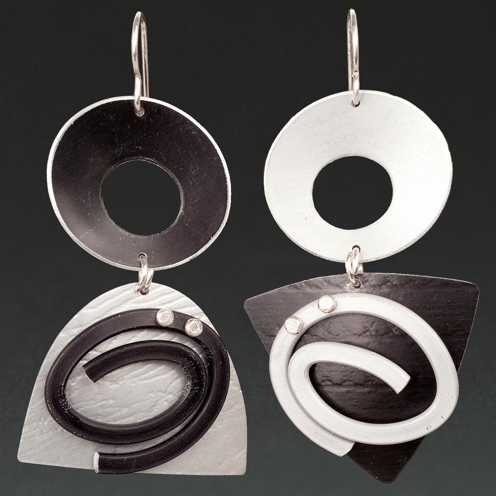 C- Black, Silver