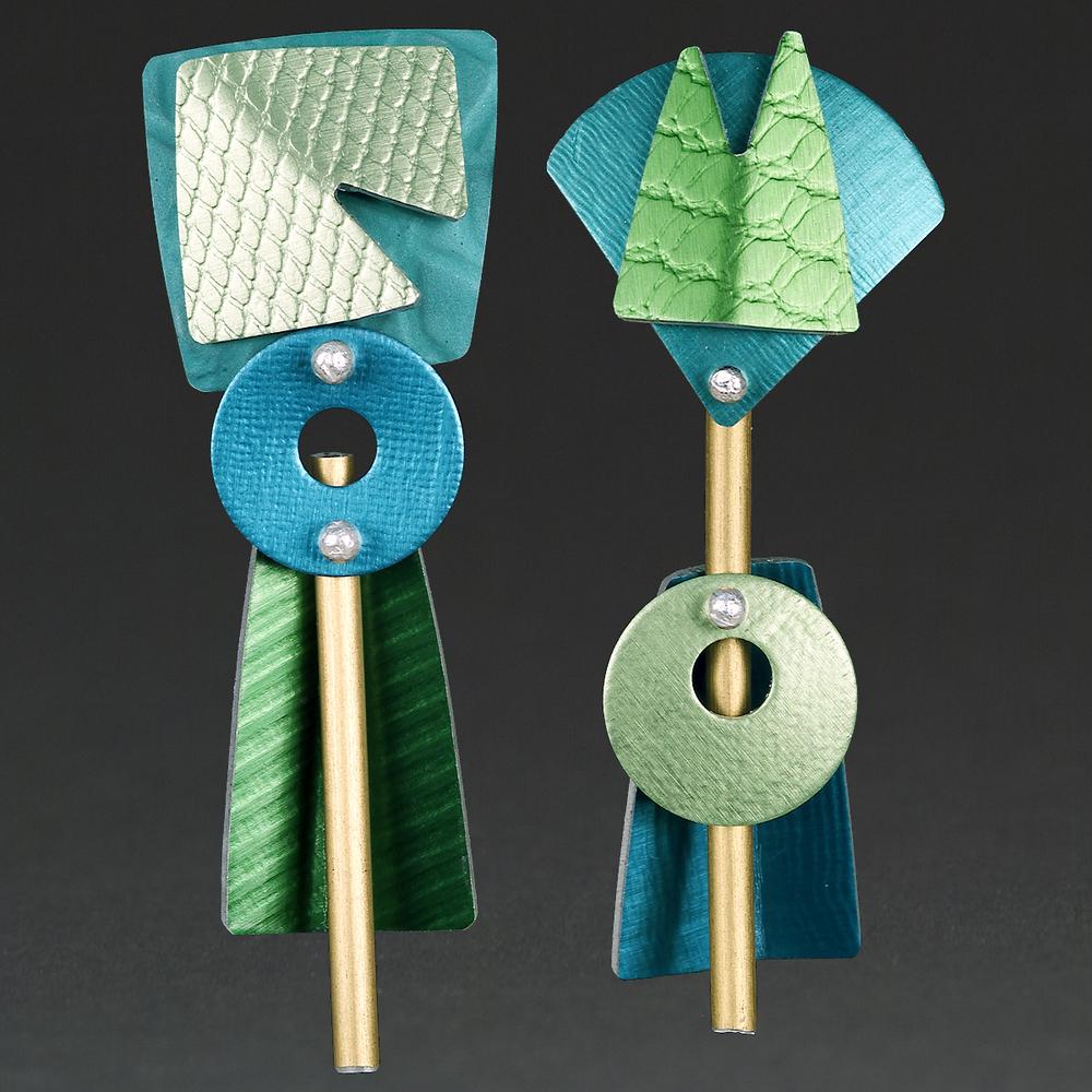 A - Turquoise, Chablis, Green, Aqua