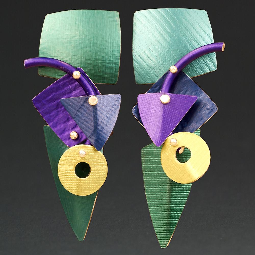 D - Green, Turq., Purple, Royal, Chablis
