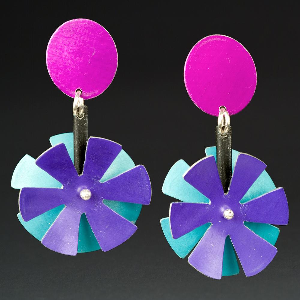 D - Violet, Turq., Purple