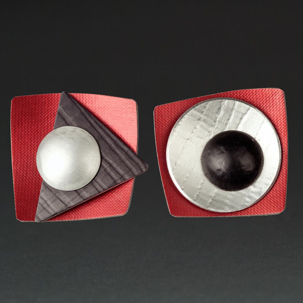 B - Red, Silver, Black