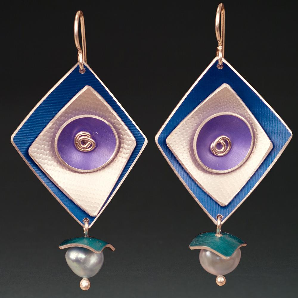 E - Royal, Silver, Purple