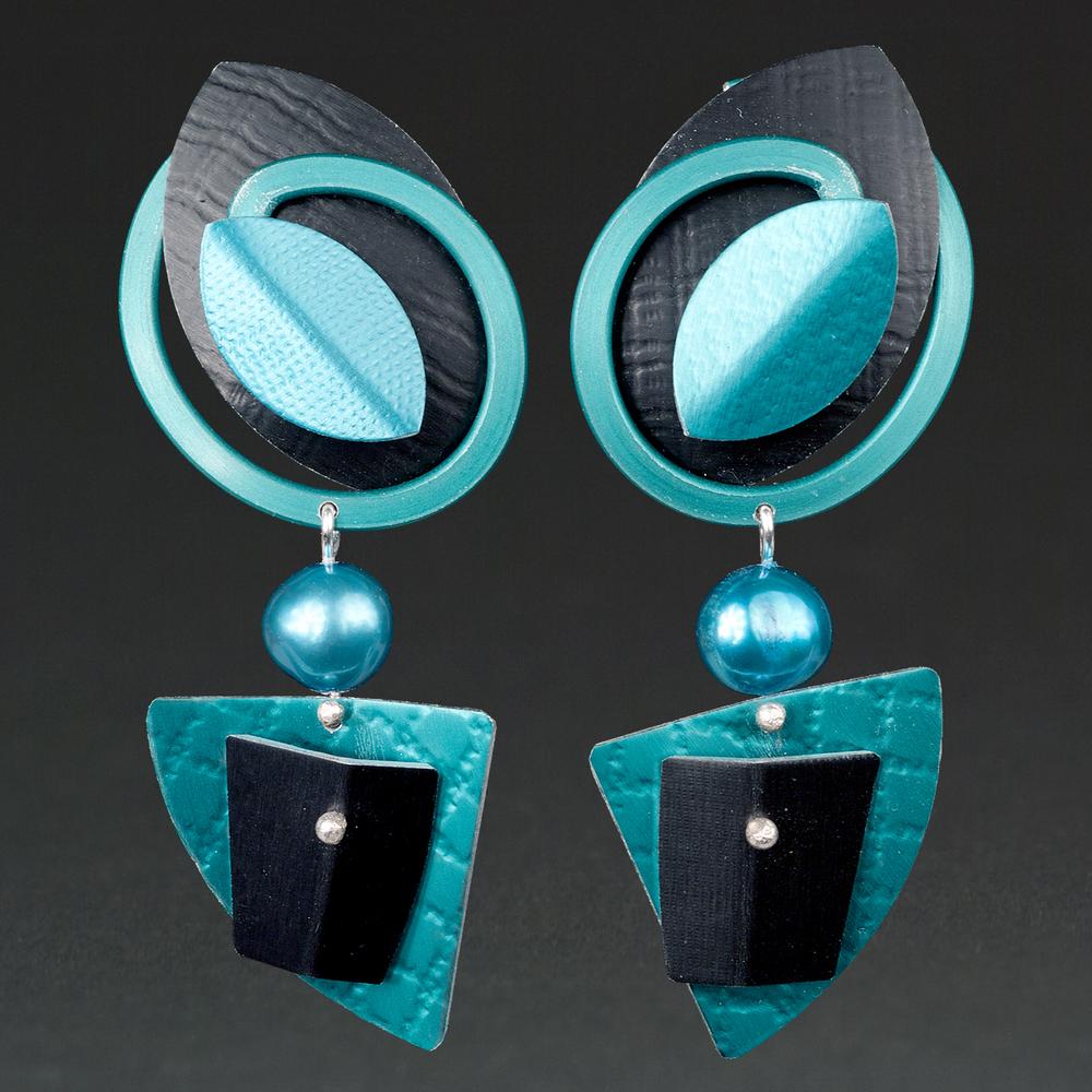 Black, Turquoise, Aqua