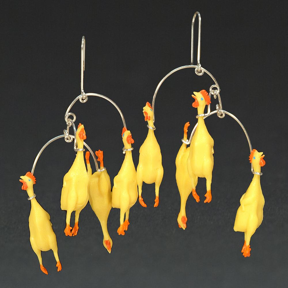Plastic Rubber Chickens