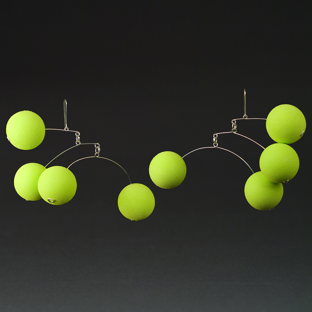 Green Rubber balls