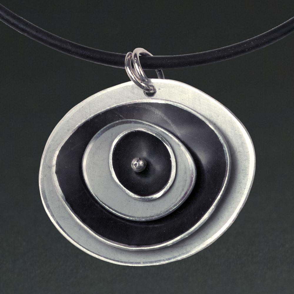 D - Silver, Black