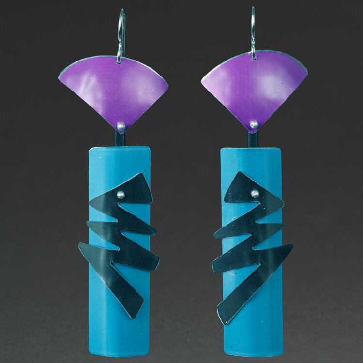 B - Violet, Aqua, Black.