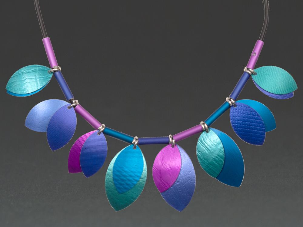 D - Turquoise, Purple, Violet.
