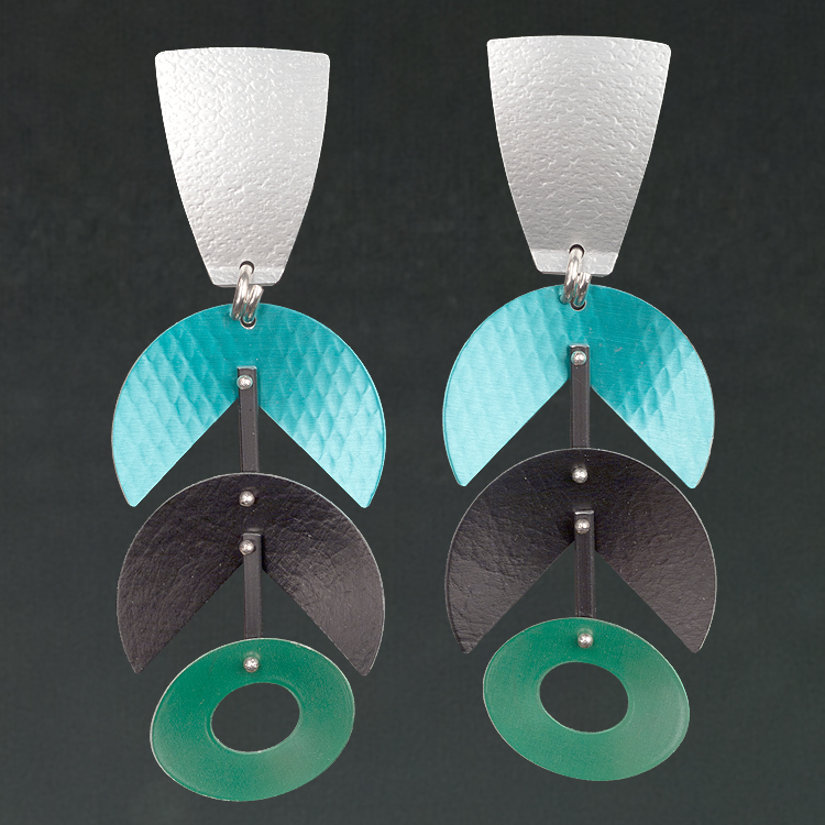 A - Silver, Turquoise, Black, Green