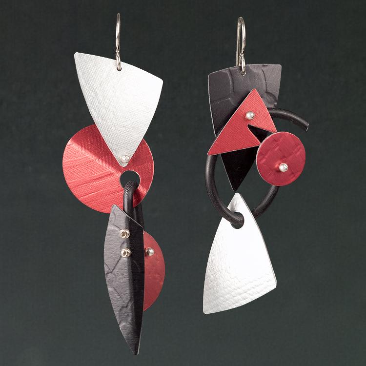 B - Silver, Red, Black