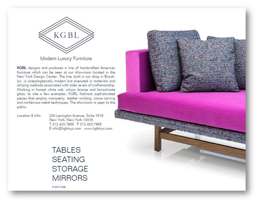 KGBL Furniture Catalog