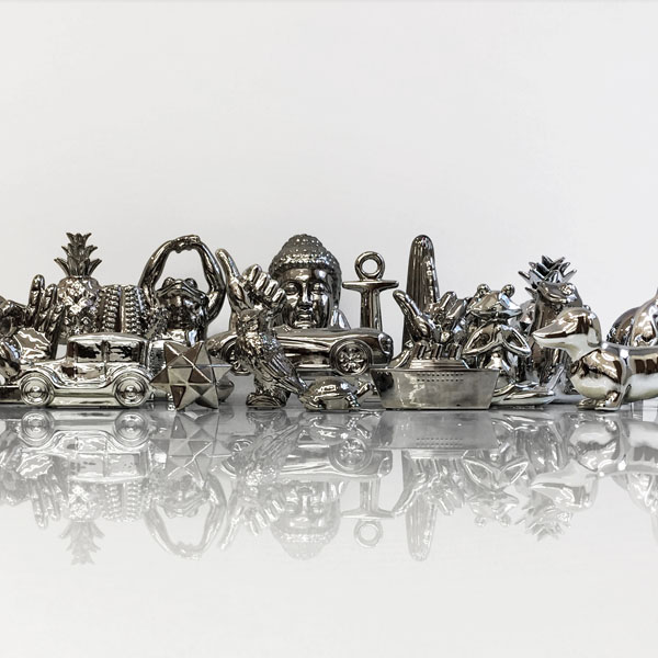 Chrome Ceramic Figurine Collection
