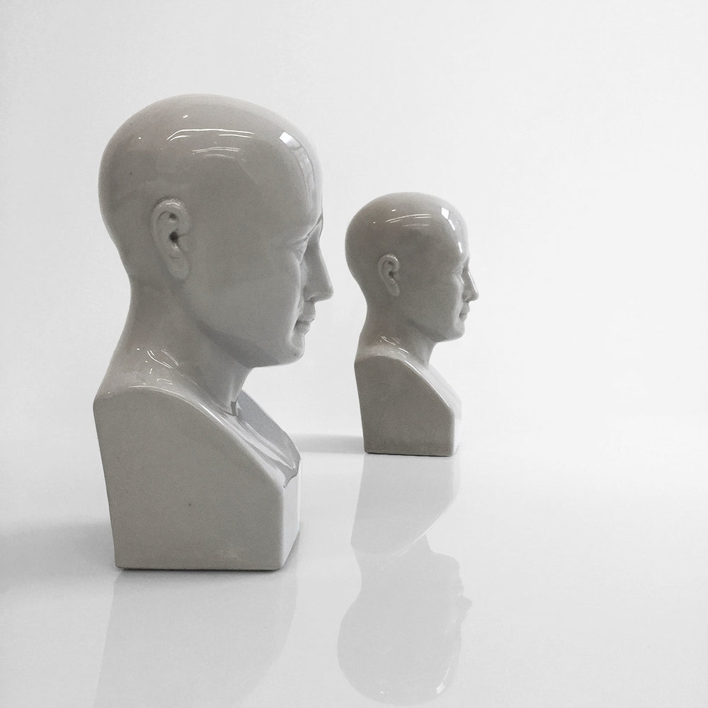 Phrenology heads