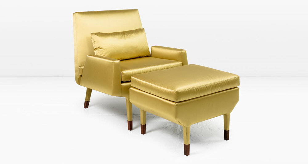 Angott Club Chair with Optional Ottoman and Bolster Pillow