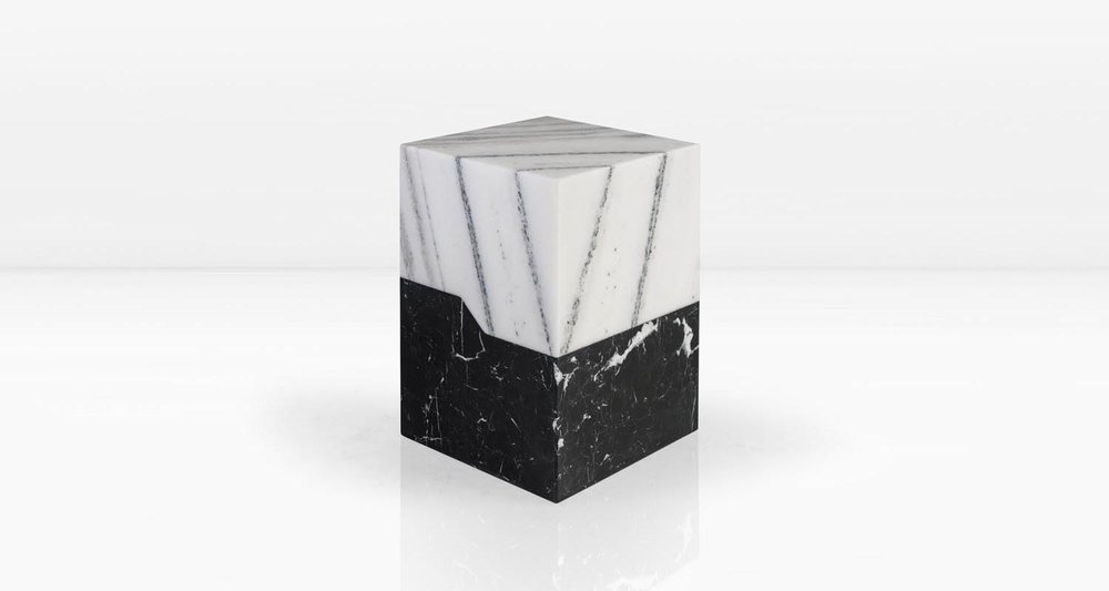 Statuary top and Nero Marquina base