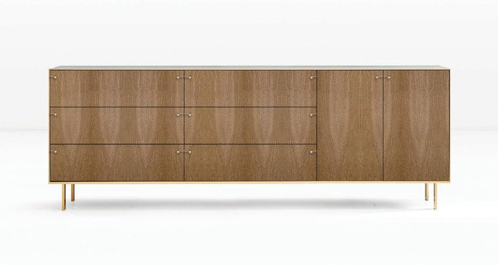 Fumed White Oak veneer and Silicon Bronze straps/hardware