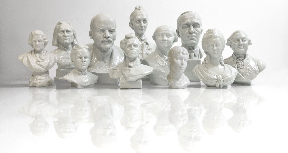 Porcelain Bust Group