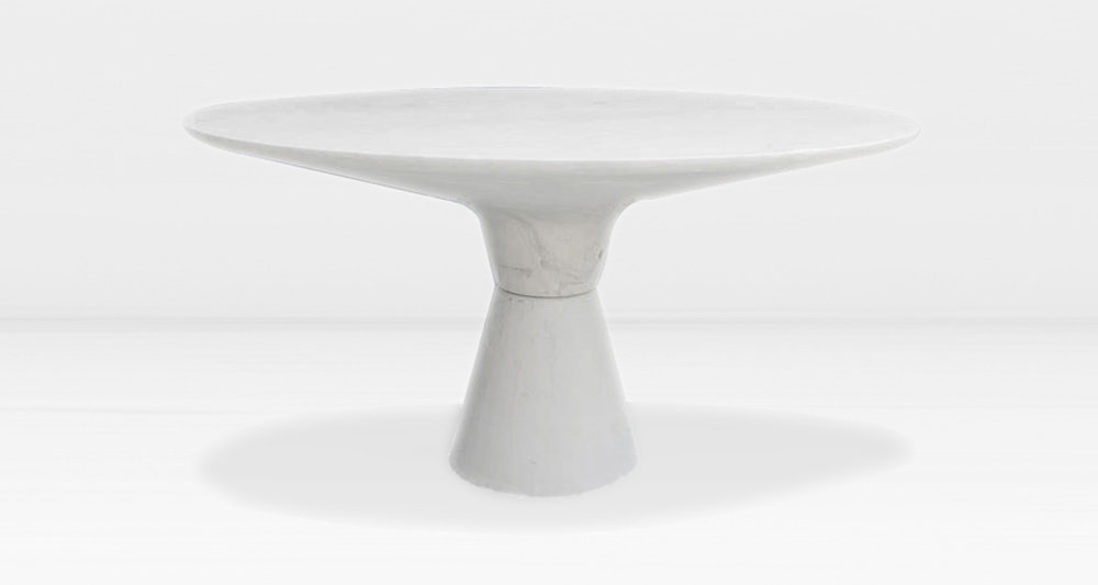 White marble top and base