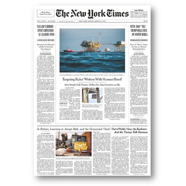 The New York Times, Mar 2018