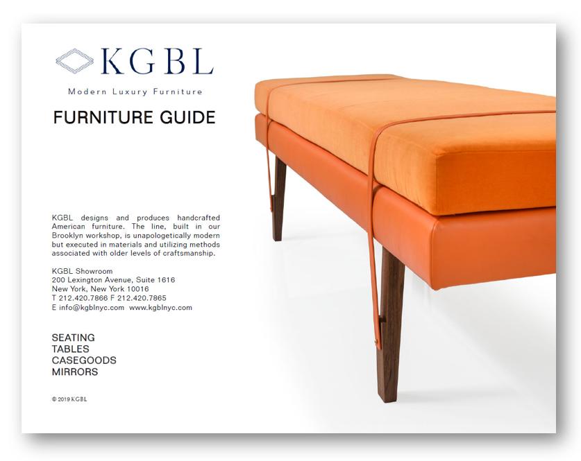 KGBL Furniture Catalog