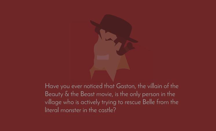 Is Gaston the villain of Beauty & the Beast?