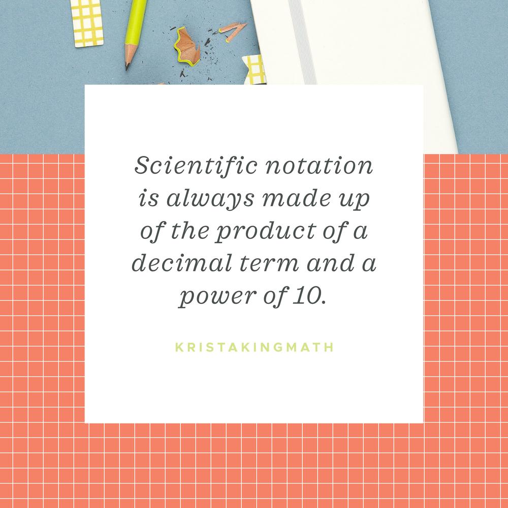 scientific notation quote