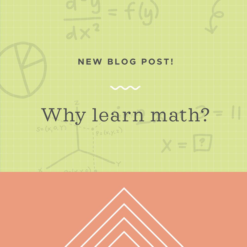 Why should I learn math?