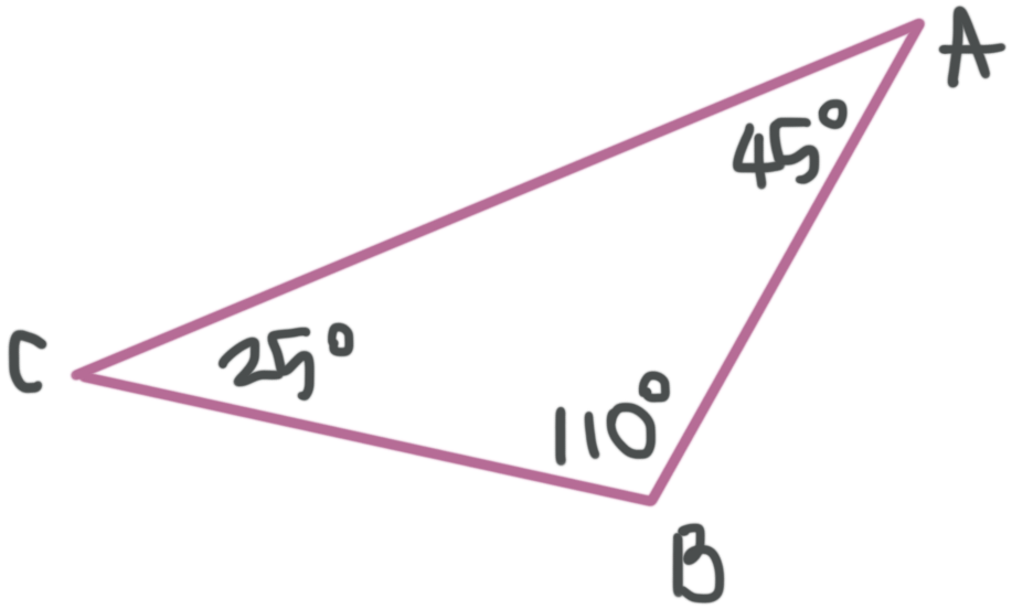 Example of an obtuse triangle