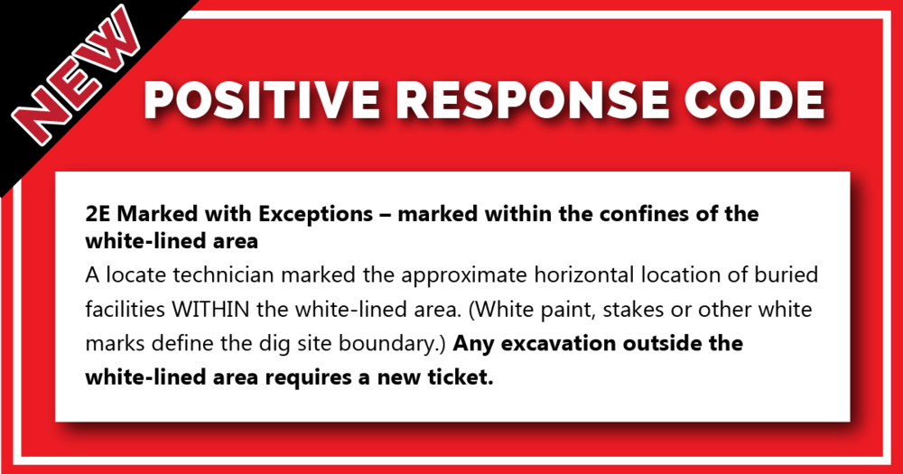 New positive response code clarifies procedures when digging