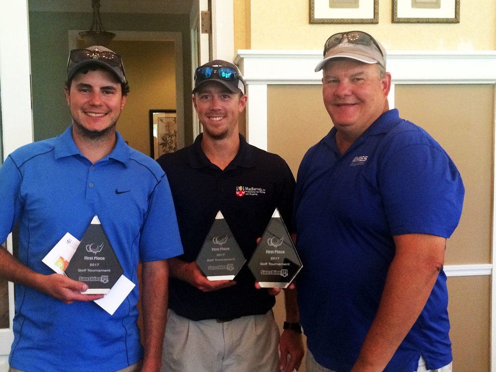 First place goes to the team of MacSurvey's Ryan Case, Matt Simpson and Bill Case with a score of 60.