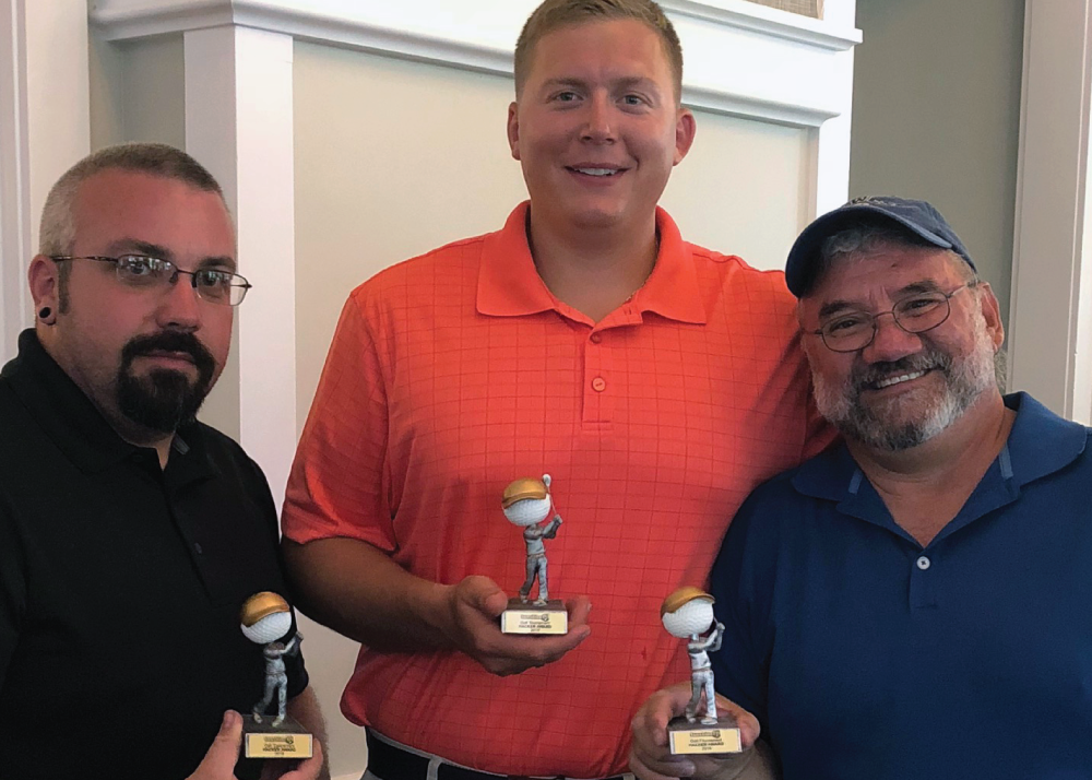 Our last place team got to take home the bobble head trophies and, as some like to say, the team that had too much fun:Juan Gulloso, Mike Drobish,Raymond Nason and James Villarreal.