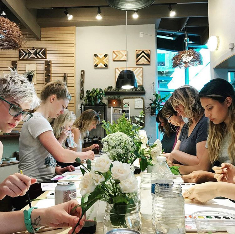 Introductory Botanical Illustration and Watercolor Class at Carter & Rose   - March 29th - S O L D  O U TApril 19th