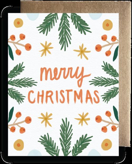 Merry Christmas Card — maija rebecca hand drawn