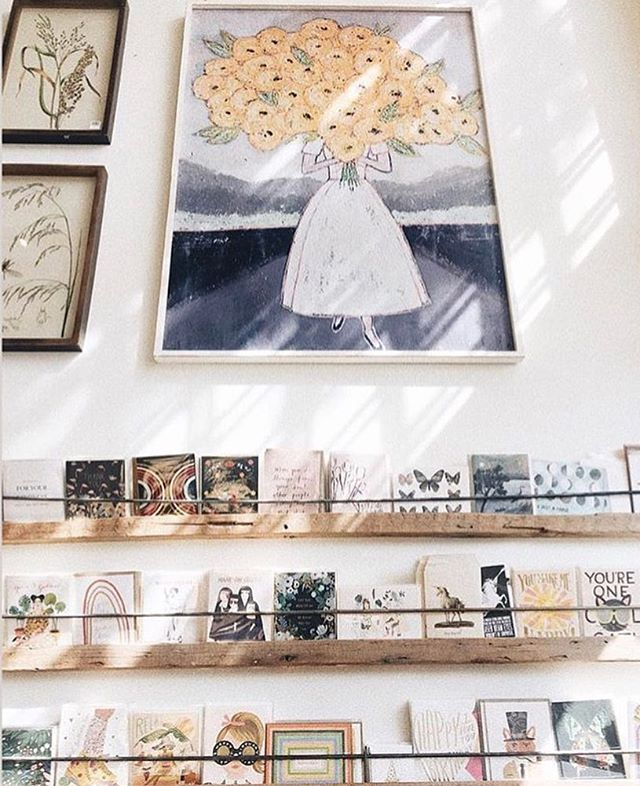 Sweet photo of @jubeeleebend in downtown #bendoregon ✨✨ You can find my cards and a few of my prints there!