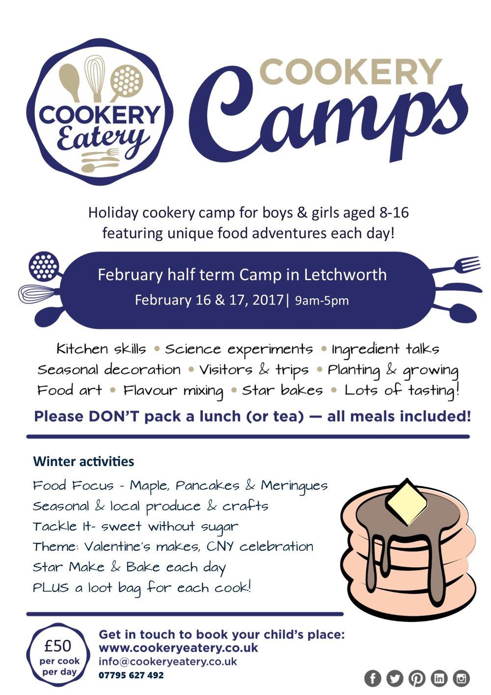 Cookery Camp.February half term 2017.Letchworth.FLYER.jpg