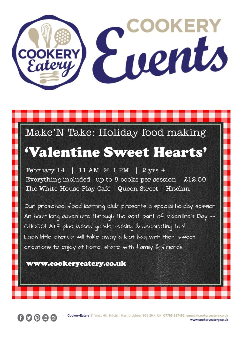 CookeryEatery.MAKE N TAKE. Valentine Sweet Hearts.White House.14Feb17.jpg