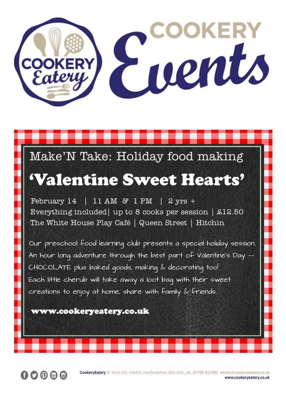 CookeryEatery.MAKE N TAKE. Valentine Sweet Hearts.White House.14Feb17.jpg