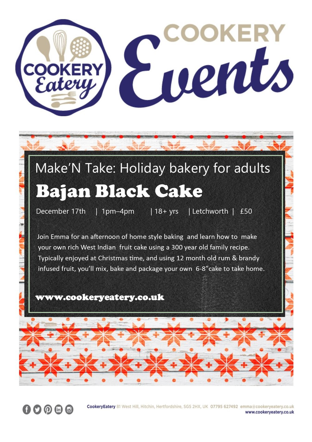 CookeryEatery.MAKE N TAKE. Holiday Bakery for Adults.Bajan Black Cake.Dec17.jpg